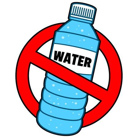 Ban bottiglia d'acqua Archivio Fotografico - 57936050