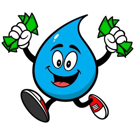 お金で水ドロップ