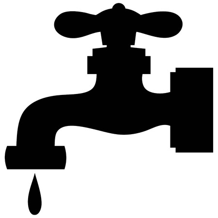 Water Faucet Leak Ilustracja