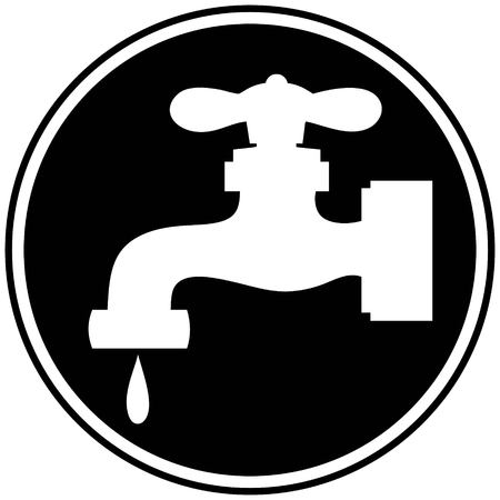 water faucet: Water Faucet Symbol Illustration