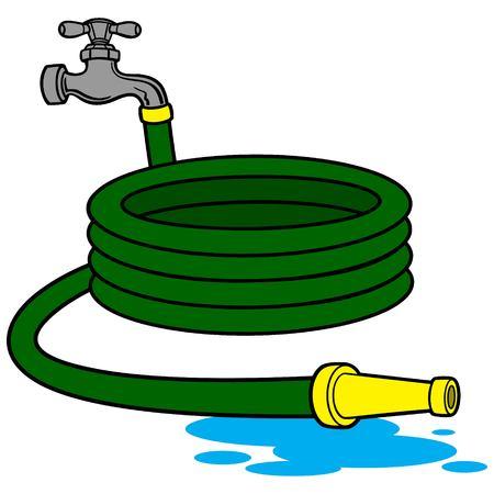 Manguera de agua Ilustración de vector
