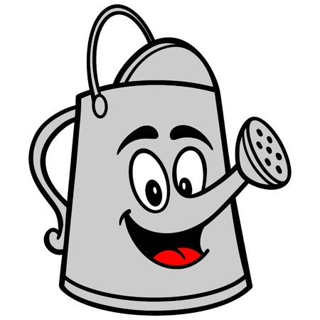 Watering Can Cartoon Illustration