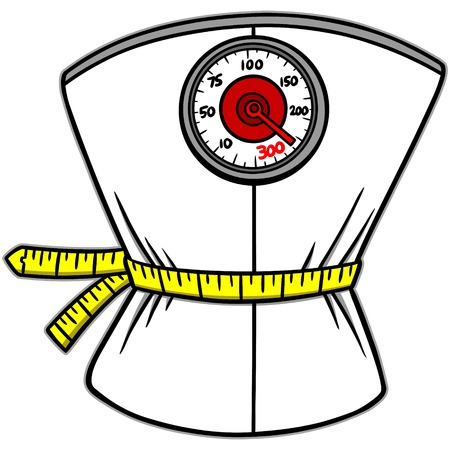 Weight Loss Scales Stock Illustratie