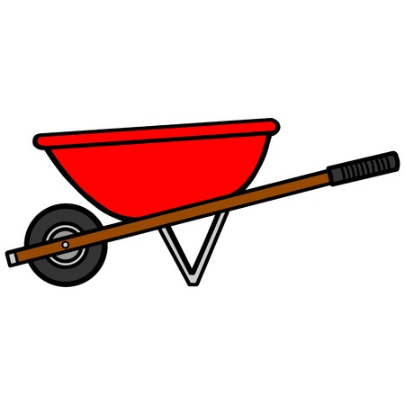 handcart: Wheelbarrow Illustration