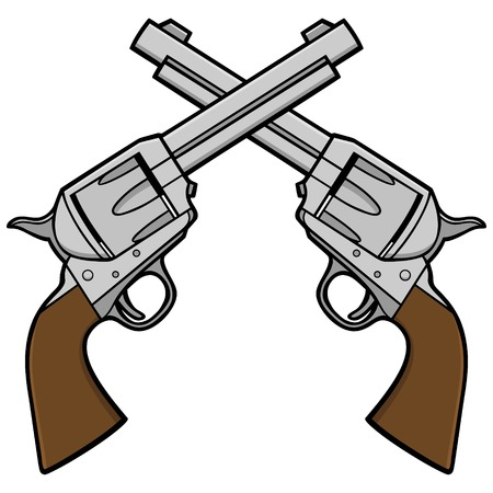 oldened: Wild West Revolvers Illustration