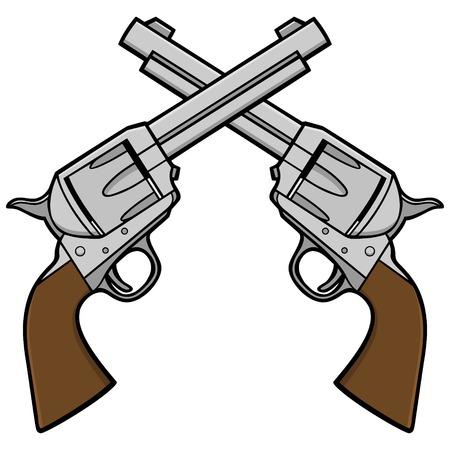 Wild West Revolvers Illusztráció