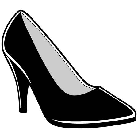 Womens Dress Shoe Ilustracja
