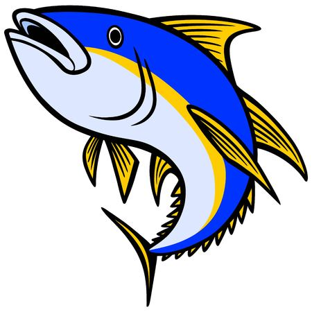 endangered: Yellowfin Tuna Icon Illustration