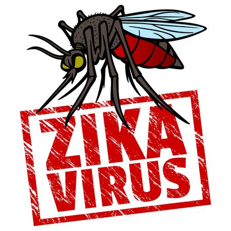 virus: Zika Virus Warning Sign Illustration