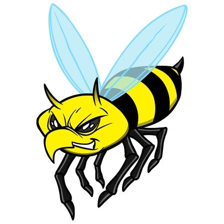 yellow jacket: Yellow Jacket Illustration