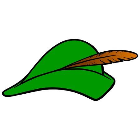 궁수 모자 일러스트