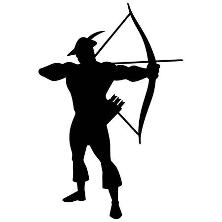 bowman: Archer Silhouette Illustration