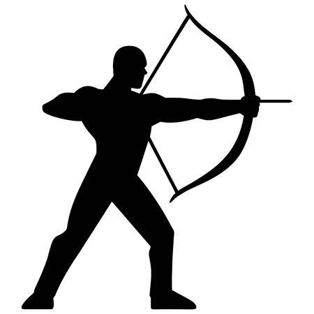 Archery Silhouette Vettoriali