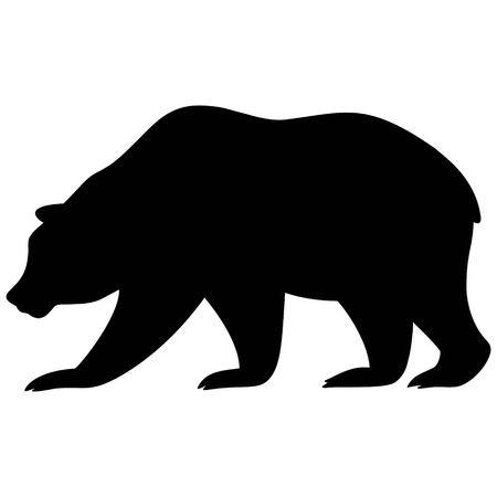 Bear Silhouette Vettoriali