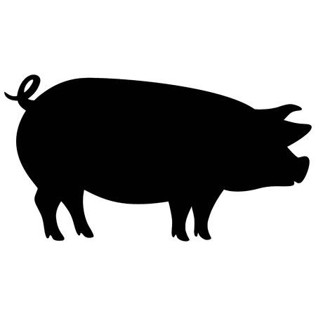 Pig Silhouette Vettoriali