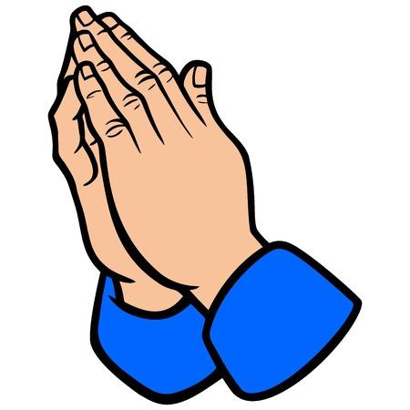 手を祈ってください。  イラスト・ベクター素材