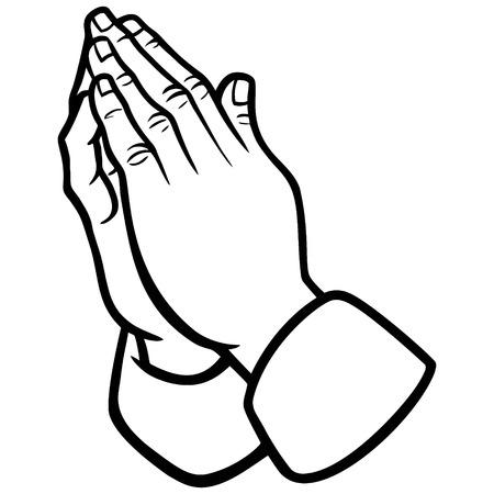Praying Hands Illustration Banco de Imagens - 61903888