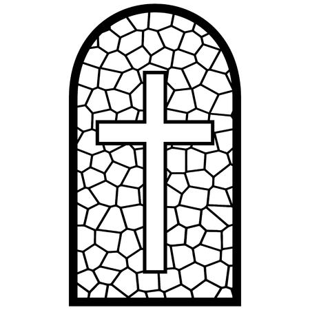 Stained Glass Window Illustration