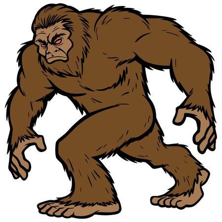 Bigfoot-Maskottchen Standard-Bild - 61903906
