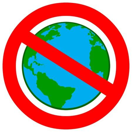 Globalismo Ban Foto de archivo - 62193009