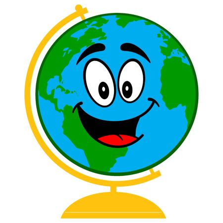 School Globe Cartoon