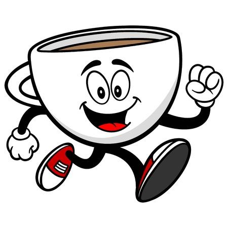 Coffee Cup Running Stok Fotoğraf - 62193008