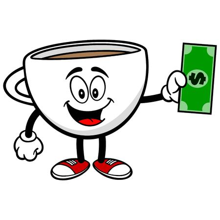 Coffee Cup with a Dollar Illustration