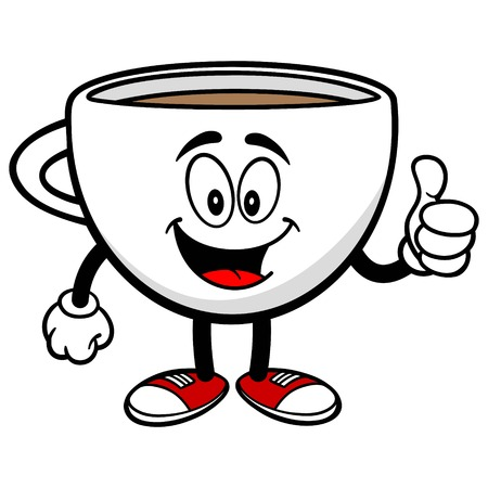 great coffee: Coffee Cup with Thumbs Up