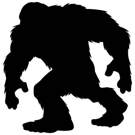 Bigfoot-Maskottchen-Silhouette Standard-Bild - 62193024