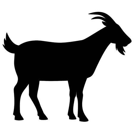 Koza sylwetki Ilustracje wektorowe
