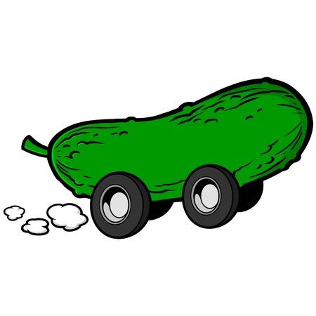 pickle: Pickle Race Illustration
