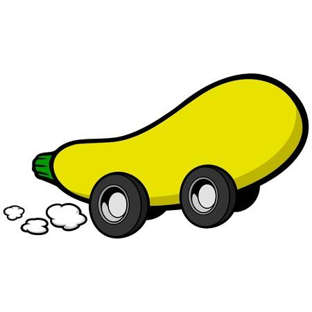 courgette: Squash Race Illustration
