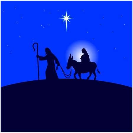 Mary and Joseph flee to Egypt