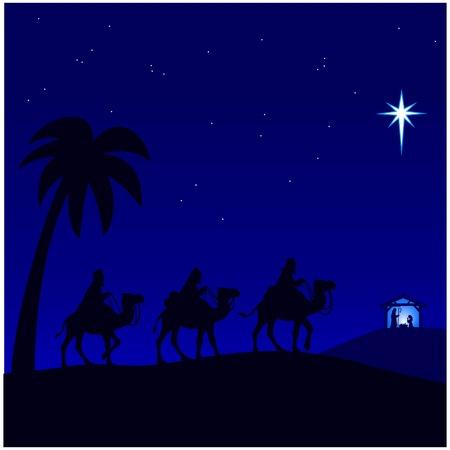 nativity Journey Vector Illustratie