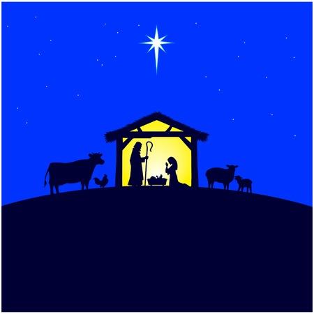 god's cow: Nativity Manger
