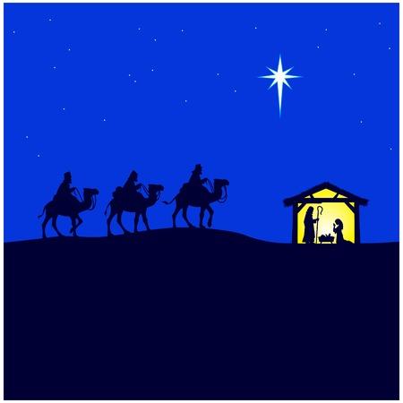 Kerststal Stock Illustratie