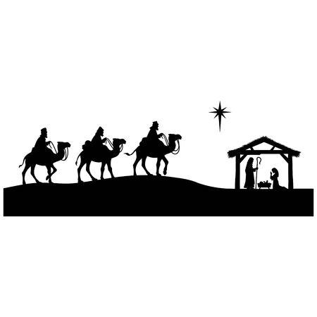 キリスト降誕の概要  イラスト・ベクター素材