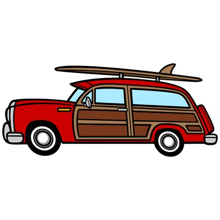 Woodie Surf Wagon