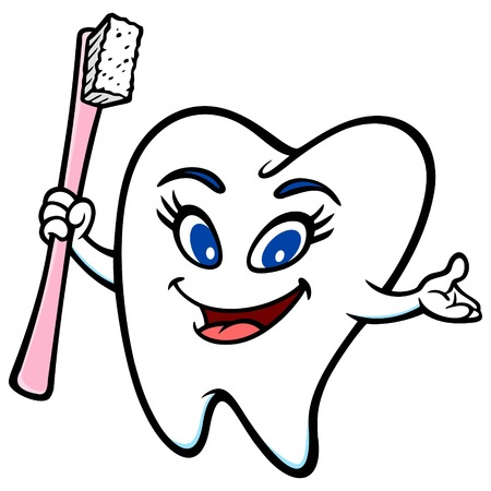 Tooth Girl Mascot