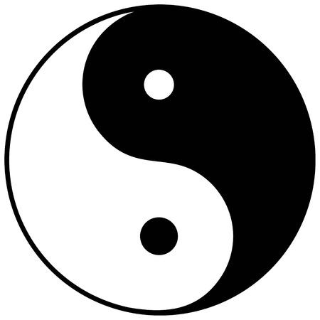 Yin Yang Symbol Ilustracja