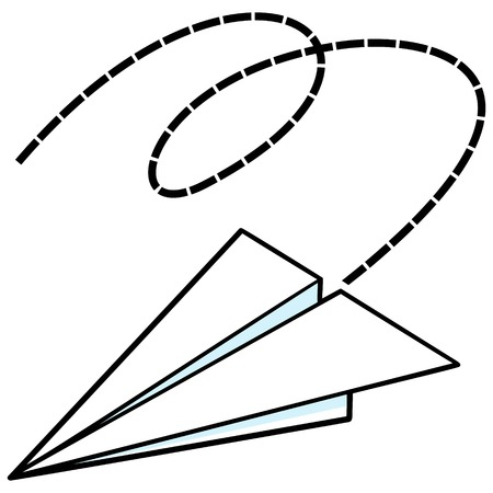 airplane: Paper Airplane Illustration