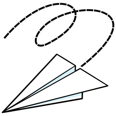 airplane: Paper Airplane Illustration