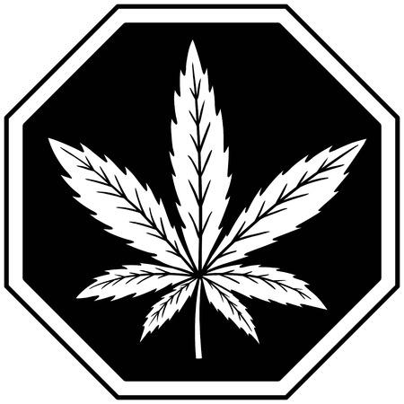 substance abuse: Marijuana Ban Illustration