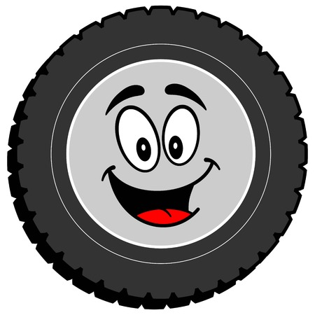 Tire Cartoon Graphic