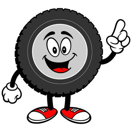 talking: Tire Cartoon Talking Illustration