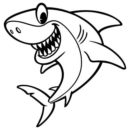 Shark Cartoon Drawing