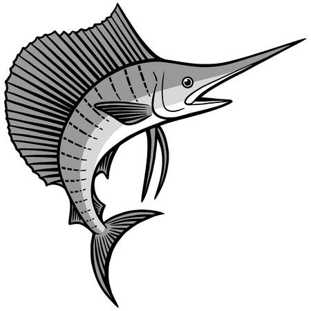 sailfish: Ilustración de pez vela