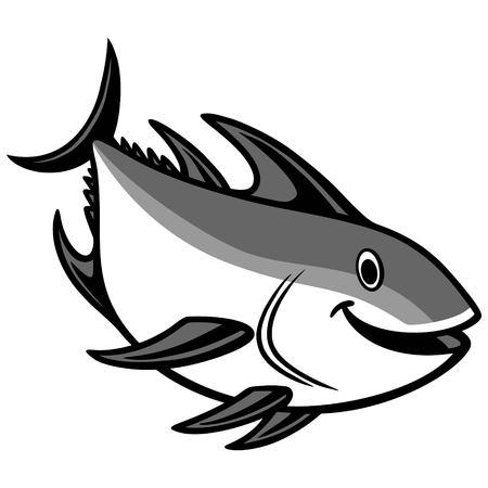 Tuna Diving Illustration 向量圖像