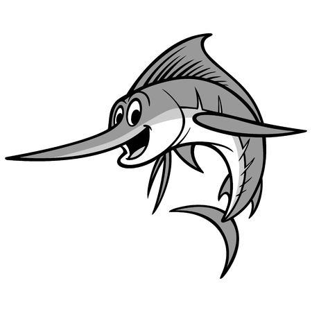 Ilustración de dibujos animados de pez espada Foto de archivo - 69365190