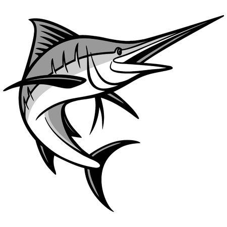 sailfish: Ilustración de pez espada